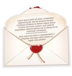 Open Envelope with a Letter vector image