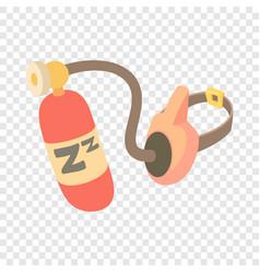 Oxygen mask icon cartoon style vector