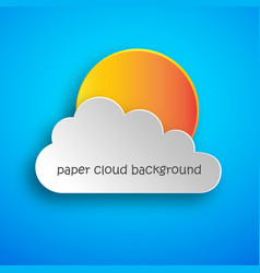 paper art of cloud and sun vector image