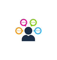 people chat logo icon design vector image
