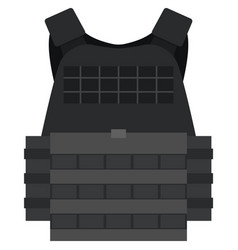 Police bulletproof vest isolated on white vector