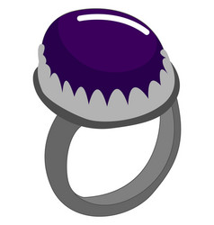 purple ring on white background vector image