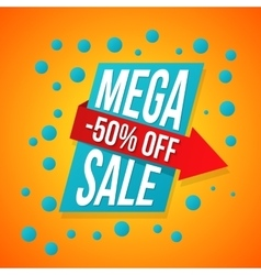 Sale special offer 50 off vector image