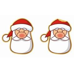 santa sticker vector image vector image