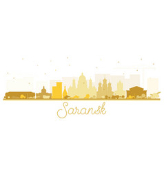 saransk russia city skyline silhouette with vector image