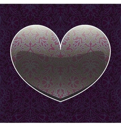 seamless hearts vector image