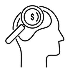 Search neuromarketing icon outline style vector