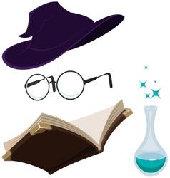Set magic tools vector image