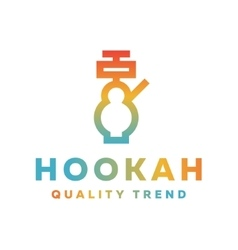 Shisha hookah for tobacco smoking and mixtures vector