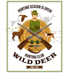 Shooting Hunting Poster vector