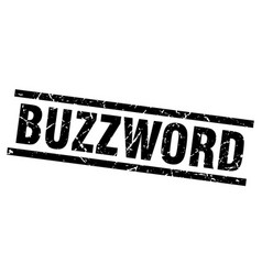 Square grunge black buzzword stamp vector
