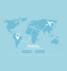 travel to world road trip vector image