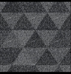 Triangle seamless pattern with noise effect vector