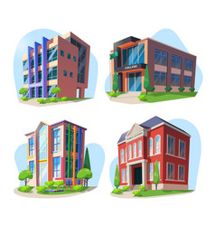 university school college and kindergarten vector image