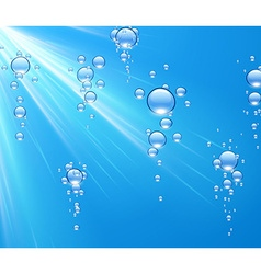 Water background with bubbles vector image