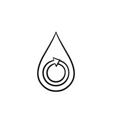 water drop hand drawn sketch icon vector image