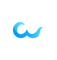 wave letter w logo icon design vector image
