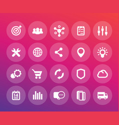 web icons set e-commerce business marketing vector image