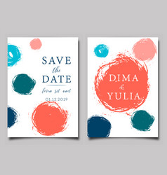 wedding invitation or anniversary card templates vector image