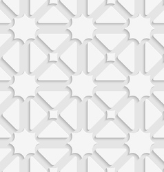White triages and stars with shadow tile ornament vector image vector image