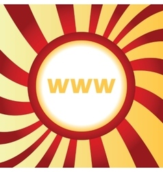 WWW abstract icon vector