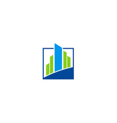 Building abstract business finance logo vector