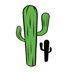 cactus icon cartoon vector image vector image