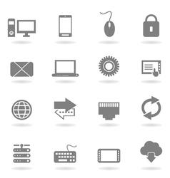 Computer an icon vector image vector image