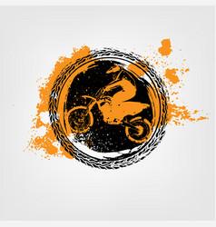 Grunge motorcross element vector