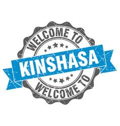 kinshasa round ribbon seal vector image vector image