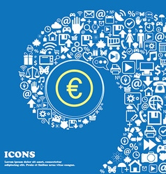 Euro icon sign Nice set of beautiful icons vector image