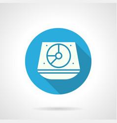 music dj equipment blue round icon vector image