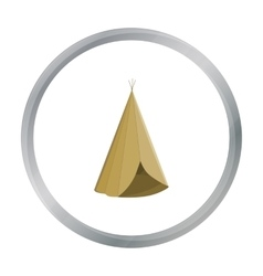 Wigwam icon cartoon Singe western icon from the vector image