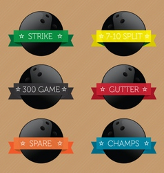 Bowling Ball Banners vector image vector image
