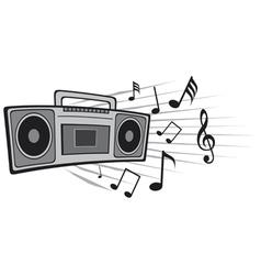 cassette tape recorder vector image vector image