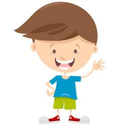 Little boy cartoon character vector