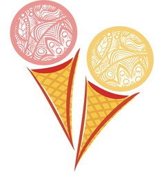 ornamental pattern Ice cream vector image vector image