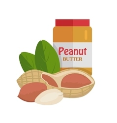 Peanuts with Peanut Butter vector image