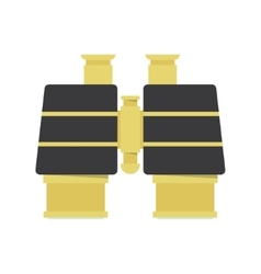 Binocular - gold icon vector image