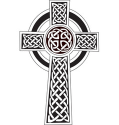 celtic cross symbol - tattoo or artwork vector image vector image