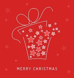 Christmas card gift vector image
