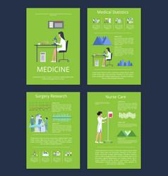 medicine medical statistics vector image