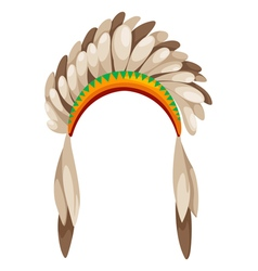 native american headdress vector image