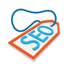 SEO label cartoon icon vector image vector image