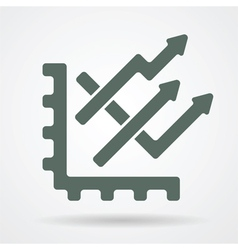 trend chart web icon vector image vector image