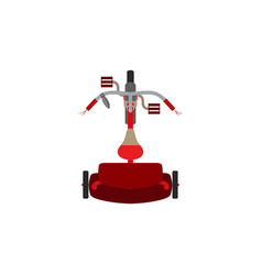 tricycle bike bicycle icon isolated toy red ride vector image vector image