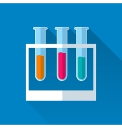3 tubes with colored liquids vector