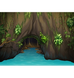 A cave and water vector image vector image