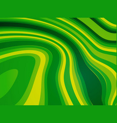 abstract wave green bio background vector image
