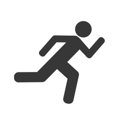 athlete running silhouette isolated icon vector image